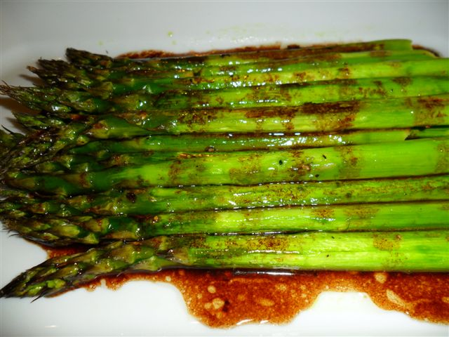 Baked Asparagus With Balsamic Butter Sauce Recipe — Dishmaps