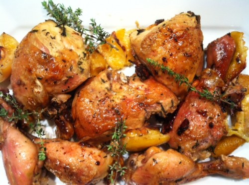 Slow-Roasted Garlic and Lemon Chicken